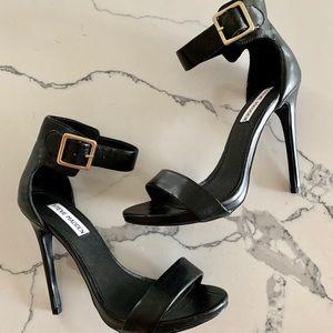 Steve Madden Black Leather Dress Sandal